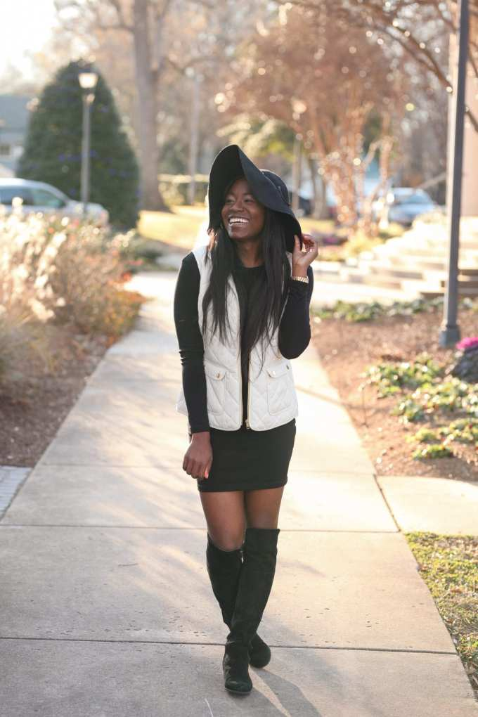 The Little Black Dress has become a staple of the modern woman's wardrobe. I'm sharing my favorite LBD of the moment and what to pair it with. It's under $50 and the long sleeves make it perfect for year-round style! Check out tips on the blog, GoodTomiCha.com || Greenville, South Carolina Fashion Blogger
