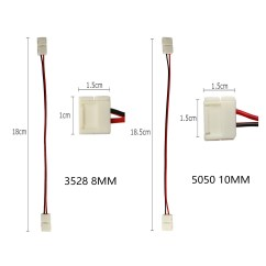 5050 Rgb Led Strip Wiring Diagram Rv Plumbing System Wow 3528 Adapter Cable 2 Pin Light Wire