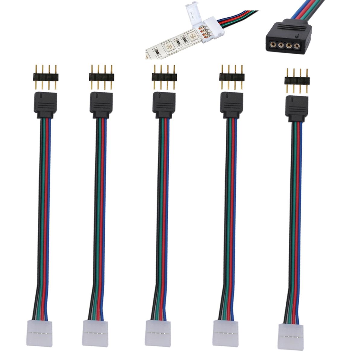 5050 rgb led strip wiring diagram sunl 50cc atv 5 x 10mm 4 pin 3528 strips light pcb