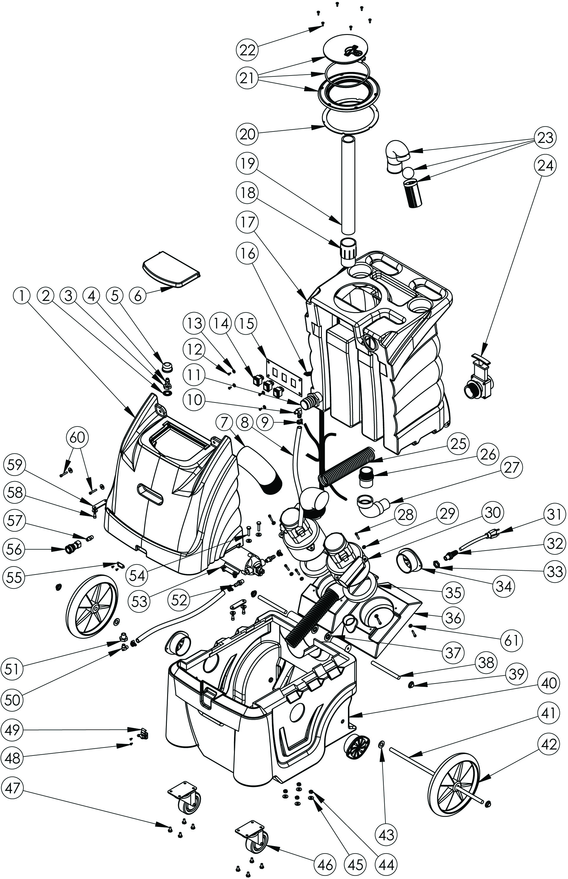 Sandia 80-2100 Carpet Extractor