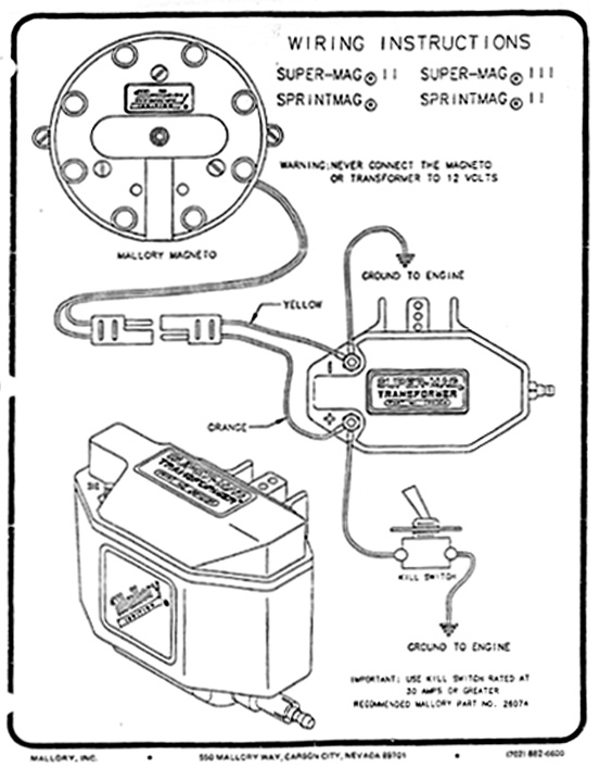 Basic Ignition Coil Wiring Diagram Moreover Mallory