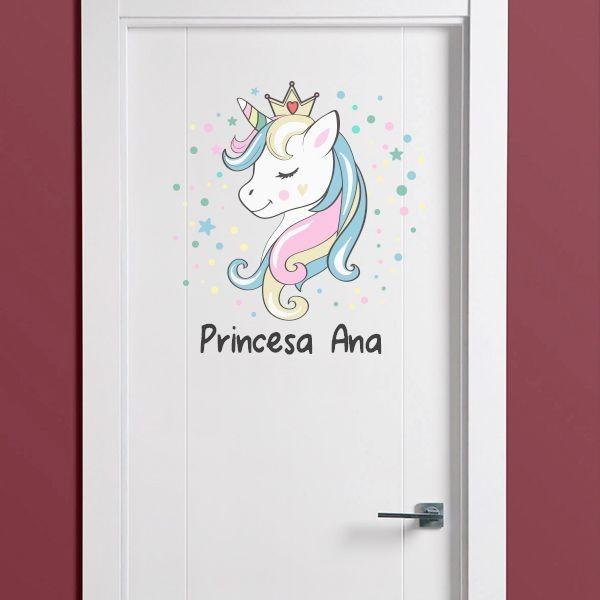 Vinilo unicornio  Pegatinas para puertas