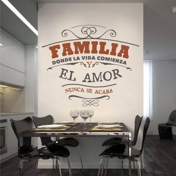 Familia  vinilos decorativos fotomurales y textos en vinilo