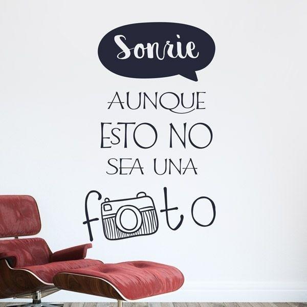 Sonre Foto  Vinilos Decorativos para transformar tu casa