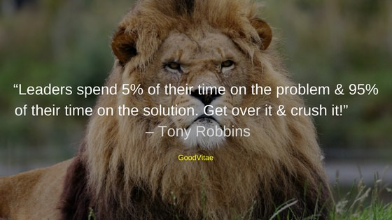Tony Robbins motivational quote for students