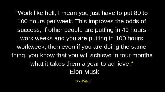 Elon Musk motivational quote for students