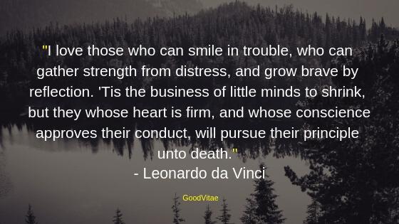 Leonardo Da Vinci motivational quote for students