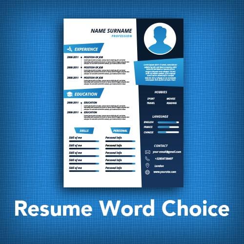 resume word choice