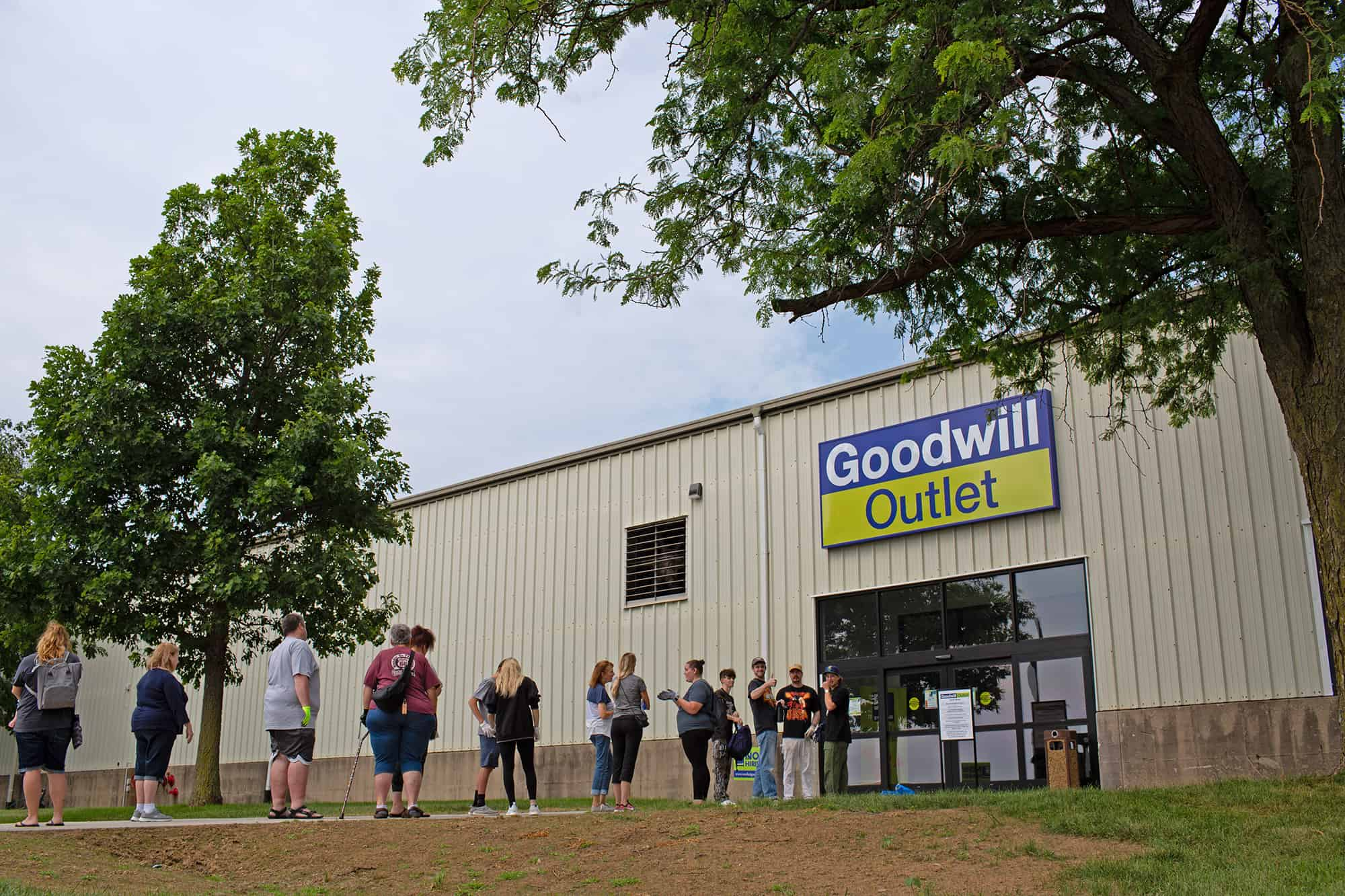 Exterior view of the Goodwill Outlet Store in Cedar Rapids, Iowa.