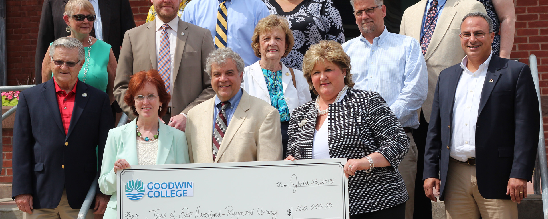 Goodwin College Donates to East Hartford Library