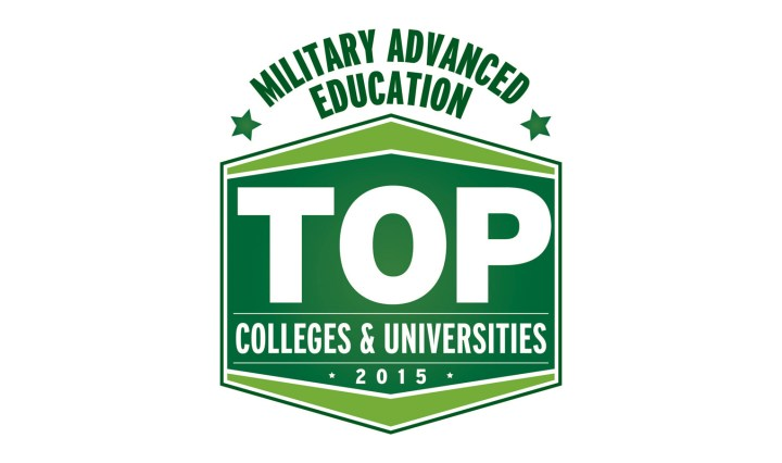 military advanced education top colleges and univiersities 2015