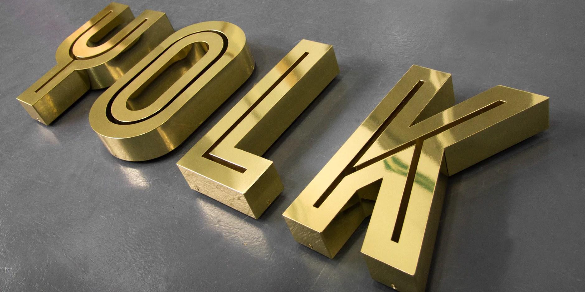 metal 3d letters 3d