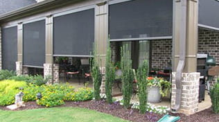 residential outdoor roller shades