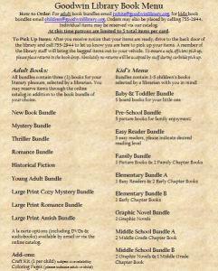book menu