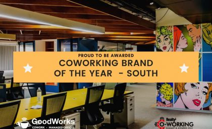 GoodWork Spaces Awarded As The 'Co-Working Brand of the Year – South'. Check Out CEO Vishwas Mudagal's View On The Future Of Coworking.