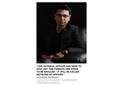 Vishwas Mudagal – Co-founder GoodWorks CoWorking Spaces Got Featured in Realty+ Magazine