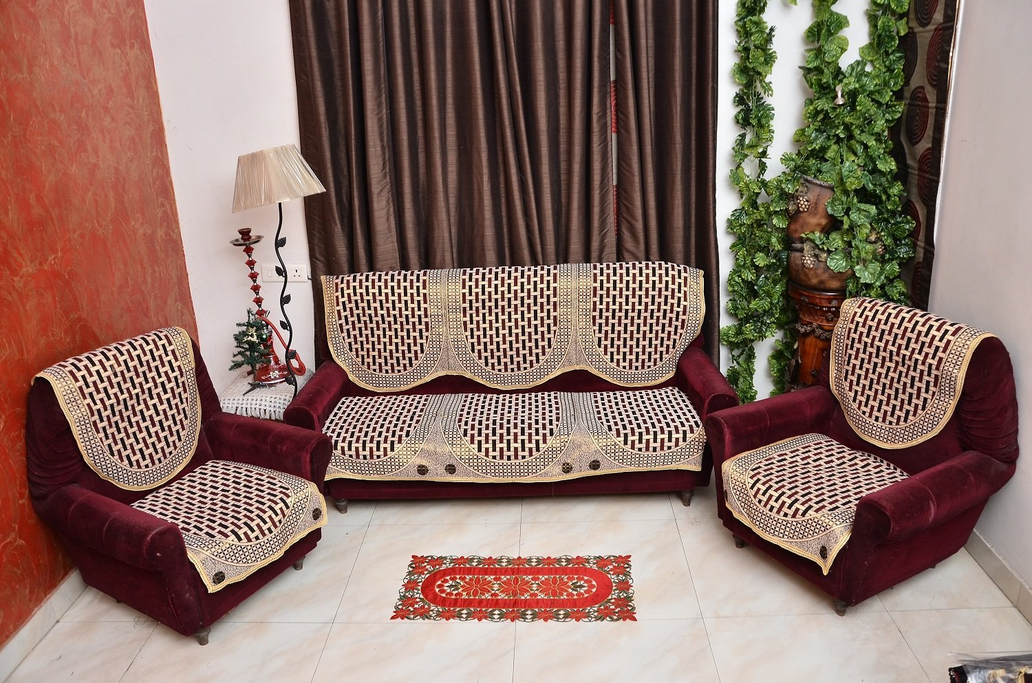 sofa covers low price stores los angeles benefits of using cover goodworksfurniture buy rshp 5 seater maroon coffee cotton online at prices vbdfwem