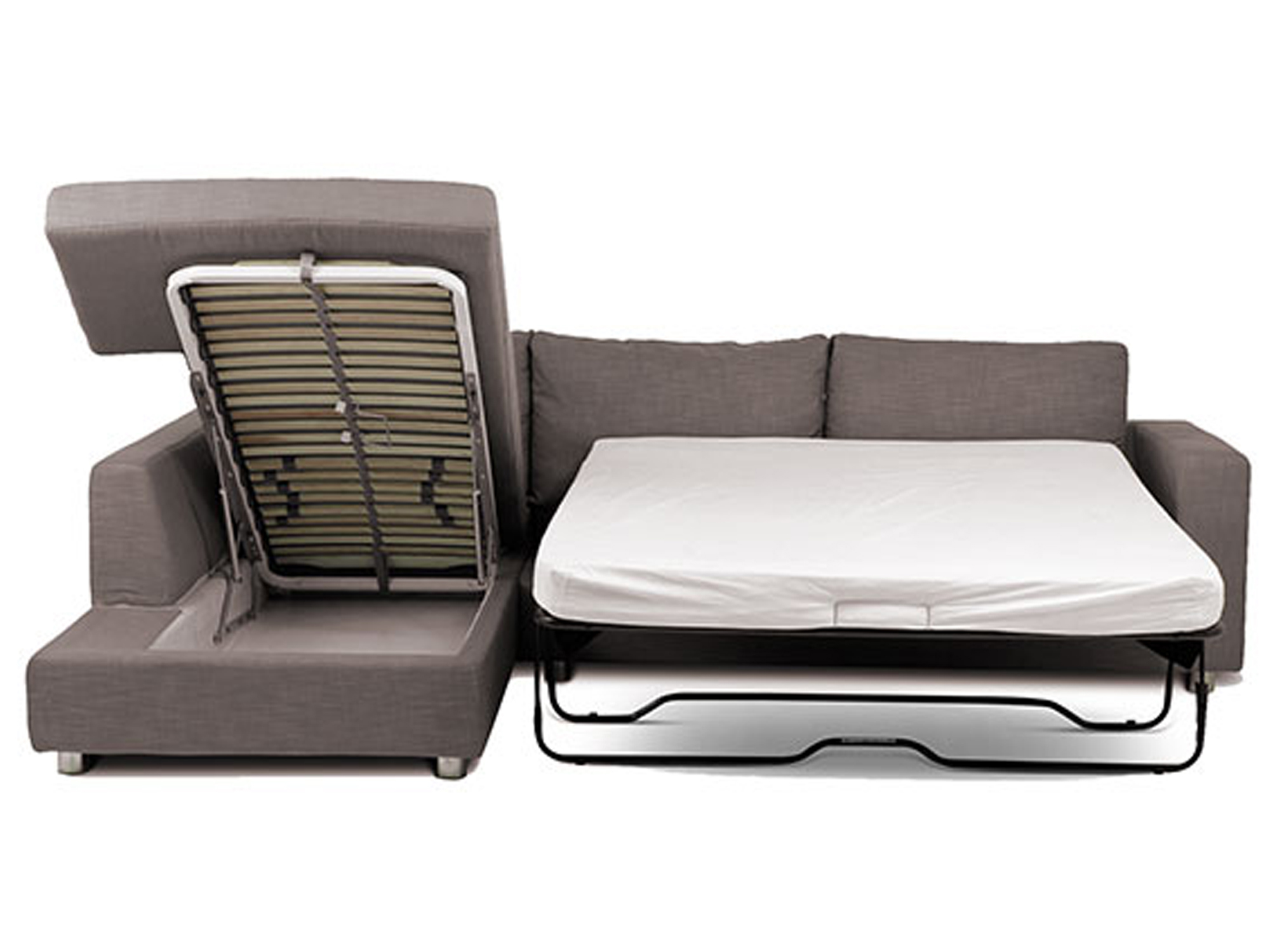 corner sofa bed roma grey black leather with metal legs a for your home  goodworksfurniture