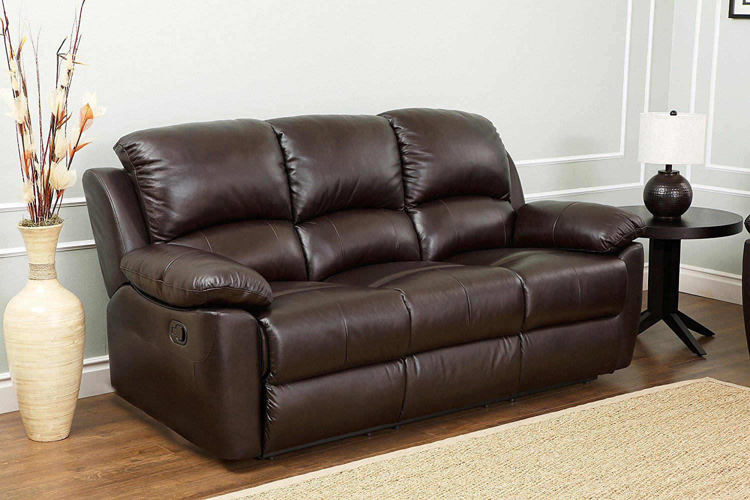 sofa in the kitchen zander bonded leather power reclining black for added comfort living room