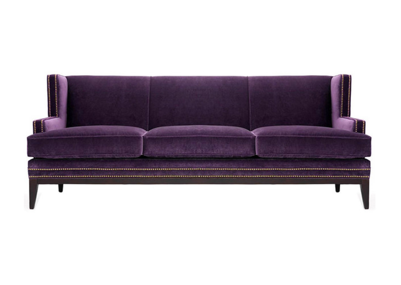 purple sofas fixing a broken sofa arm for bright and lively living room