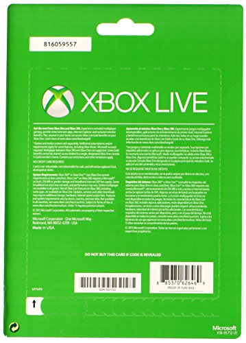 NEW Microsoft Live 3 Month Gold Card For XBOX 360 XBOX ONE Discounted Retail Products