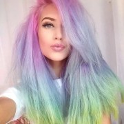 ombre & rainbow color hair trend