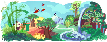 Google Earth Day 2011 doodle