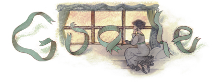 Google Doodle 節日標誌探秘 - Fun 4 Doodle: 法國 作者福樓拜 Gustave Flaubert 190歲誕辰 - 2011年12月12日 Google Doodle