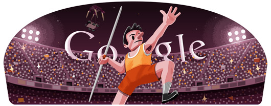 doodle lanzamiento de jabalina londres 2012