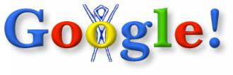 Before heading to the Burning Man festival in the Nevada desert, Larry and Sergey incorporate the iconic Man into the logo to keep cognoscenti informed about where the Google crew would be for a few days.