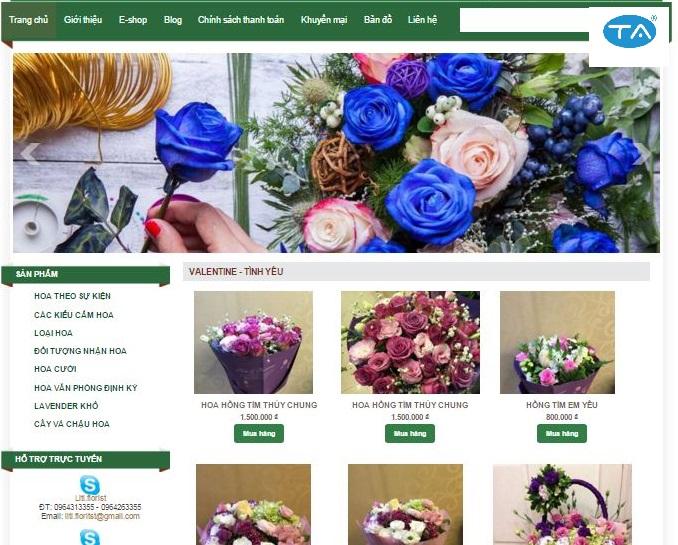thiết kế website bán hoa chuẩn SEO