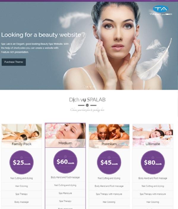 Những yêu cầu khi thiết kế website spa, thẩm mỹ viện