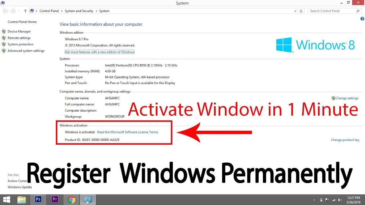 How to register Windows 47