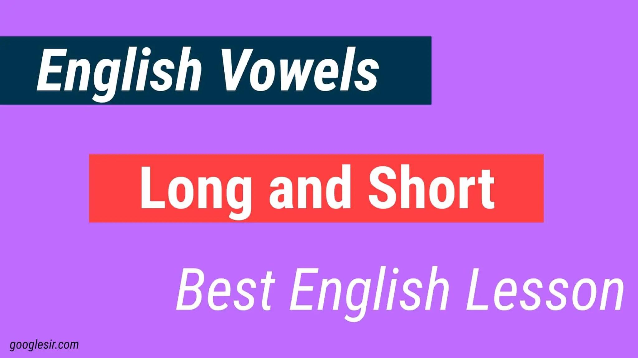 English Vowels
