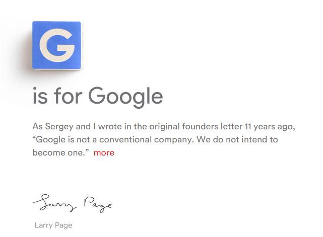 A Google agora é Alphabet 2