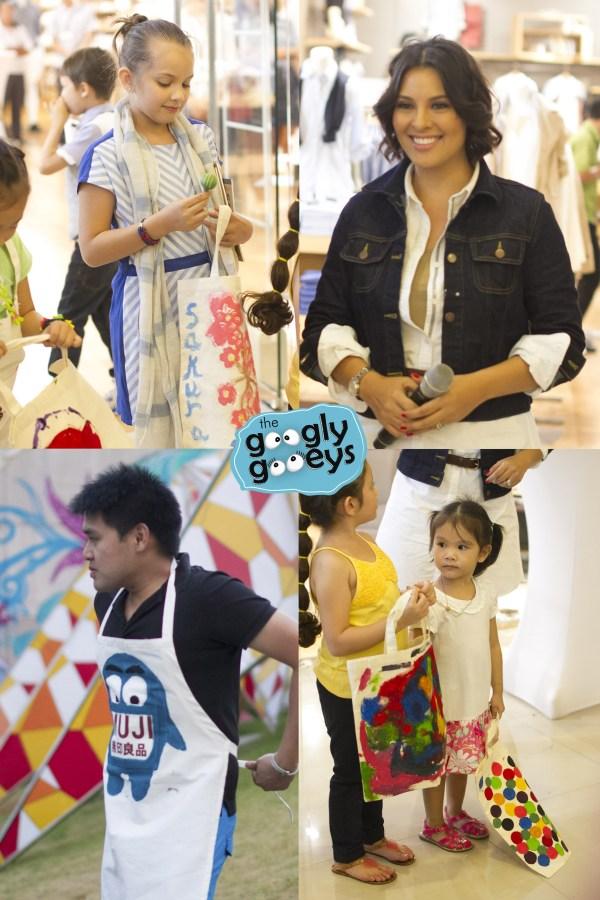 G Toengi & Sakura Walters Ponggo at the Muji Central