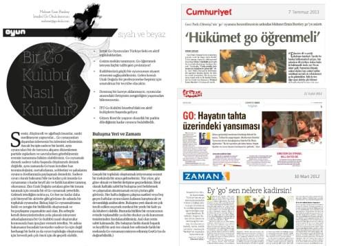 Basında İstanbul Go Okulu ve Go oyunu