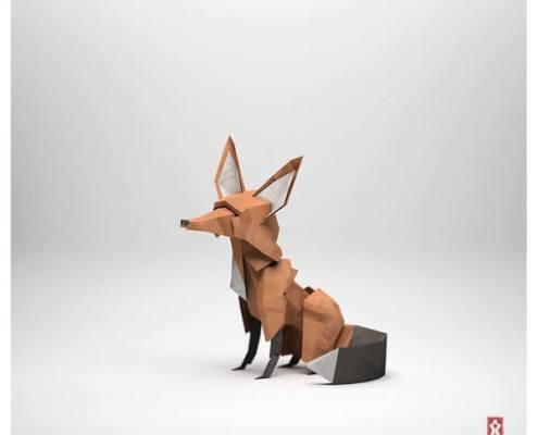 origami köpek modeli
