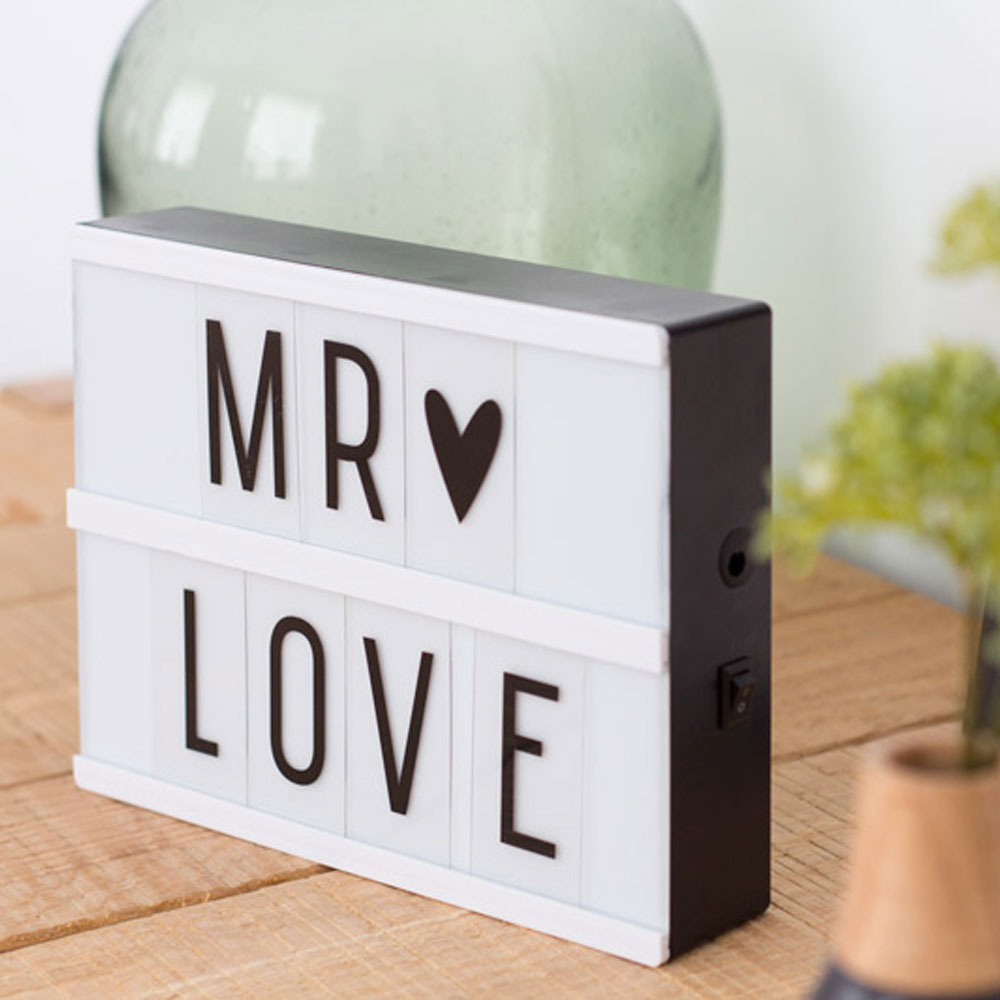 Mini Lightbox A5 A Little Lovely Company Pannello Led Personalizzabile