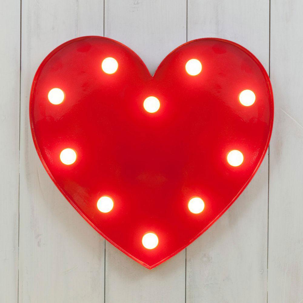 lampada cuore circus light con bulbi luminosi da appendere