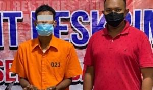 Berbekal Informasi, Polsek Medan Baru Berhasil Tangkap SK di Rumahnya dan BB Sabu