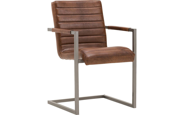 Eetkamerstoel Sturdy Bruin Leer kopen  Goossens meubelwinkel