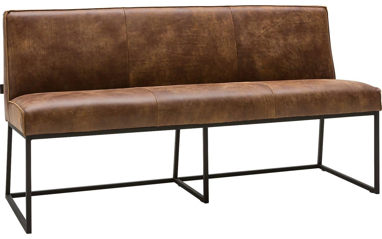 Eetbank Tom Bruin Leer kopen  Goossens meubelwinkel