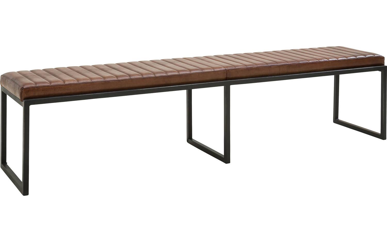 Eetbank Sturdy Bruin Leer kopen  Goossens meubelwinkel
