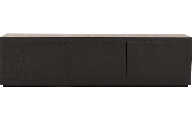 Tv Meubel Barcelona Zwart Eiken kopen  Goossens meubelwinkel