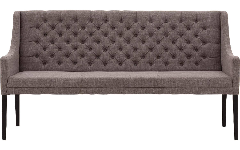 Eetbank Pearl Bruin Stof kopen  Goossens meubelwinkel