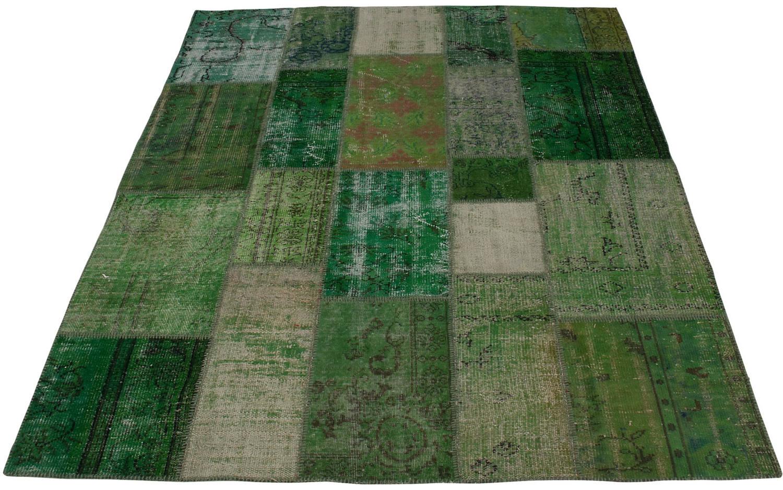 Vloerkleed Vintage Groen katoen kopen  Goossens