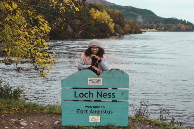 What It's Really Like to Study in the U.K. - Girl at Loch Ness