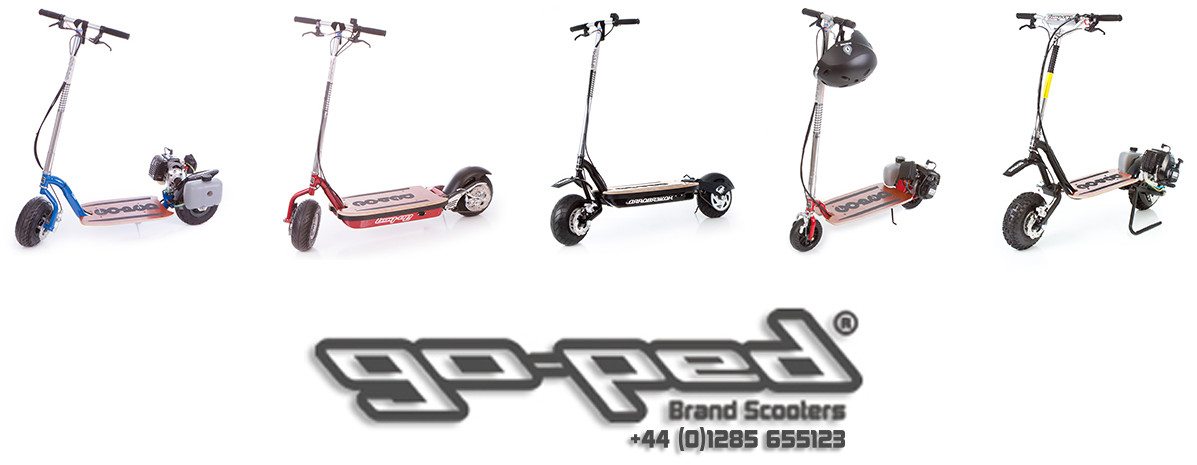 TODAY GO-PED IS THE MARKET LEADER IN MOTORISED SCOOTER