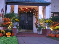 Outdoor Halloween decorations and lawn care marketing idea ...